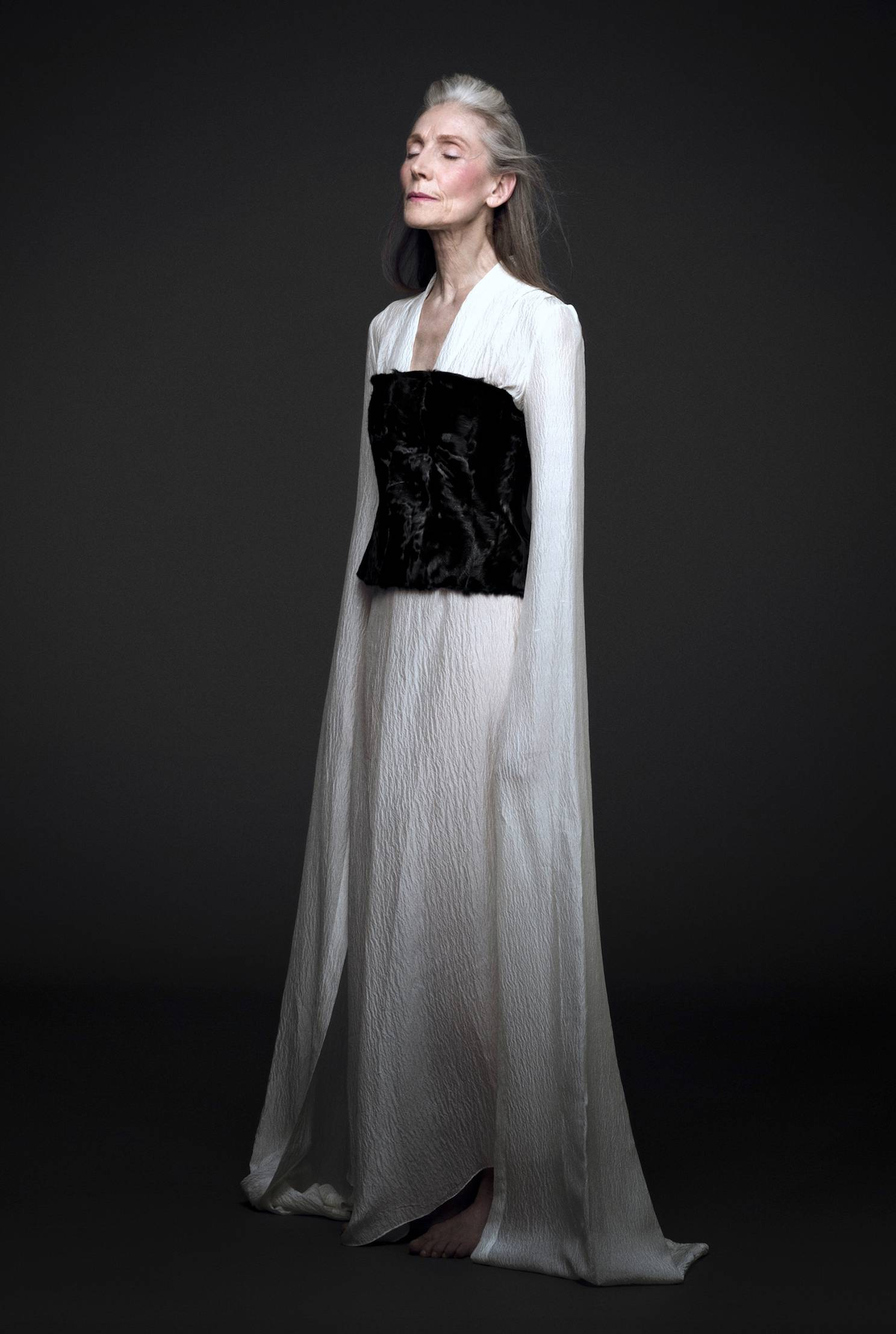 Shades of Black - S1-2 - Silk White Dress Long