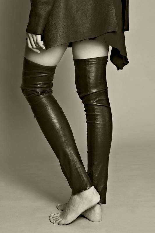 l'amour du sauvage - A - LC1 - Leather Overknees Stretch Leather Nappa